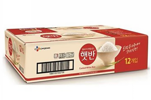 200g x 12bowls 햇반 12개입 / Cooked White Rice 12 bowls