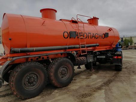 Бензовоз под топливо