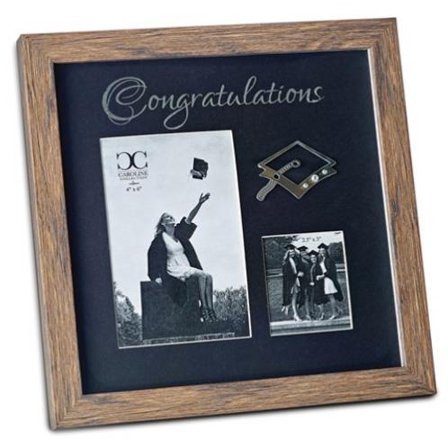 Congratulations Graduation 2.5x3 And 4x6 Photo Frame