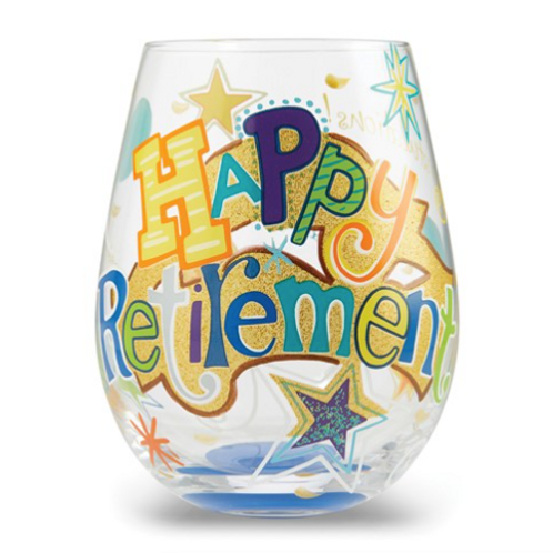 LOLITA Love Happy Retirement Stemless Glass