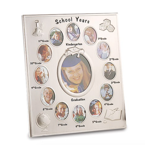 Silver-Plated School Years Frame