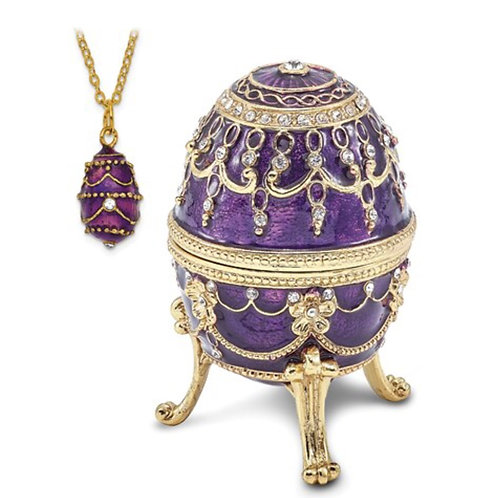 Bejeweled IMPERIAL PURPLE (Plays Endless Love) Musical Egg