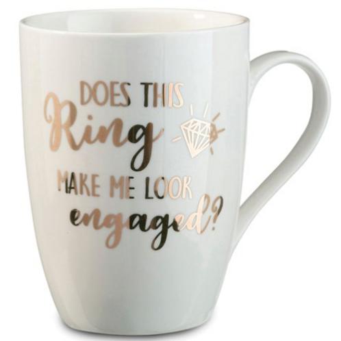 Lillian Rose Does This Ring Make Me Look Engaged Coffee Mug