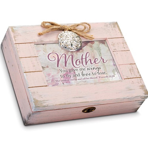 Mother Blush Distressed Locket Box : AMAZING GRACE
