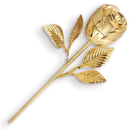 Gold-tone Finish Rose Ringholder