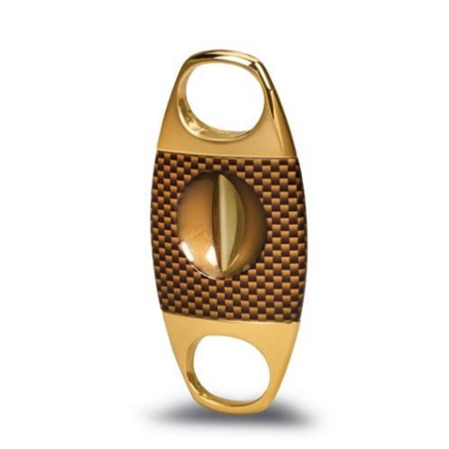Jaws Serrated V-Cut Cigar Cutter - Gold Carbon