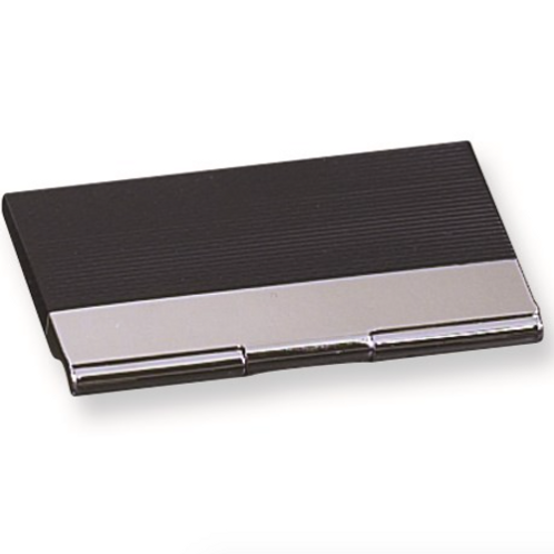 Black And Silver Business Card Case