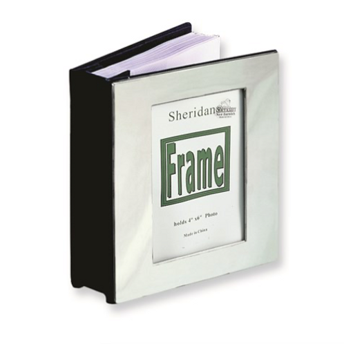 Chrome-Plated Frame Cover (Holds 100- 4x6 Photos) Photo Album