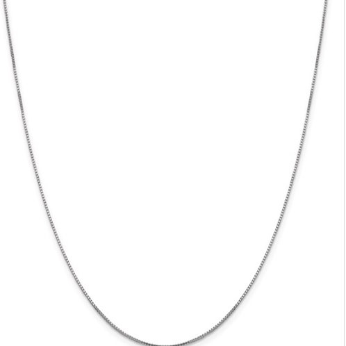 Leslie's 10K White Gold .95mm Sparkle Octagonal Box Chain
