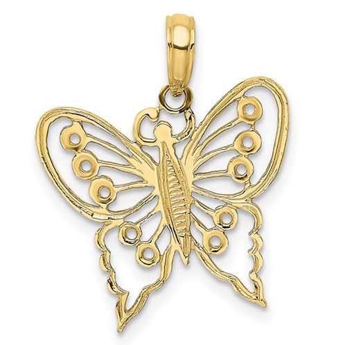 10K Cut-Out Butterfly Charm