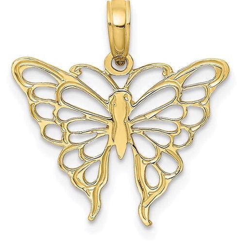 10K Butterfly Charm