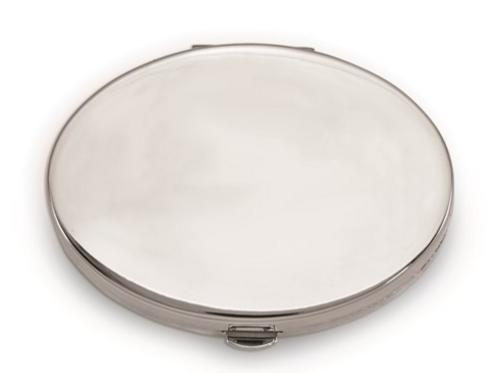Engravable Silver-Tone Pillbox