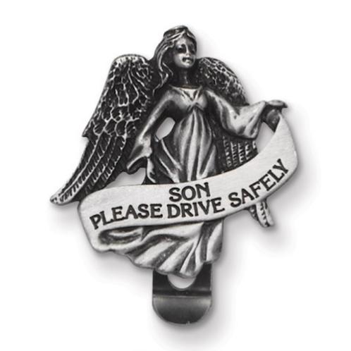Drive Safely Son Visor Clip