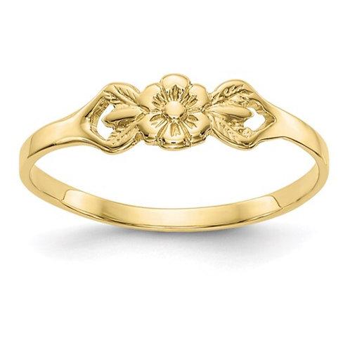 10K Flower Child's Ring