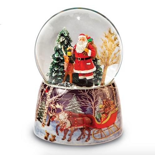 Santa and Reindeer Snow Globe