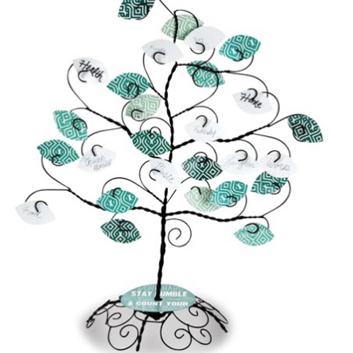 Blessings Tree With Blank Leaves Tabletop Decor