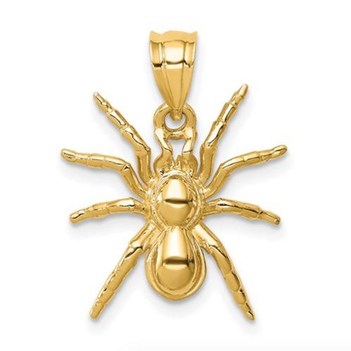 14K Polished Spider Pendant