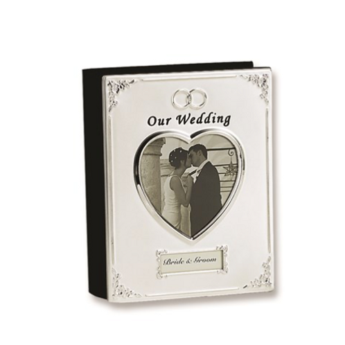 Silver-Plated Our Wedding (Holds 40- 4x6 Photos) Photo Album