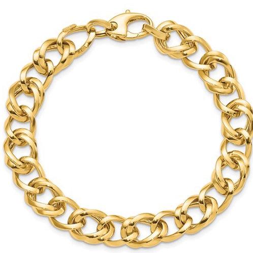 Leslie's 14K Polished Link Bracelet