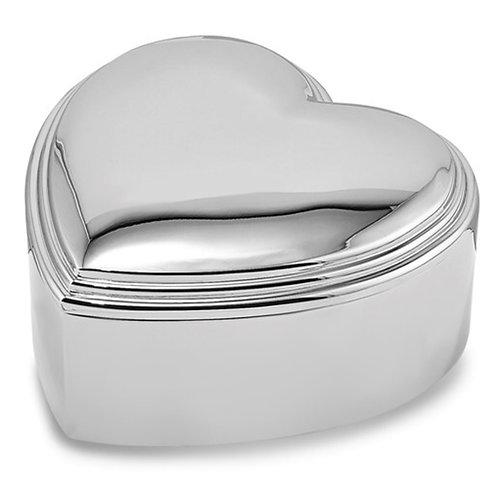 Nickel-plated Heart Jewelry Box