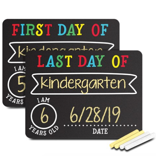 First And Last Day Of School Black Chalkboard Sign