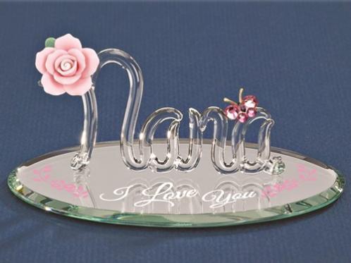 I Love You Nana Glass Figurine