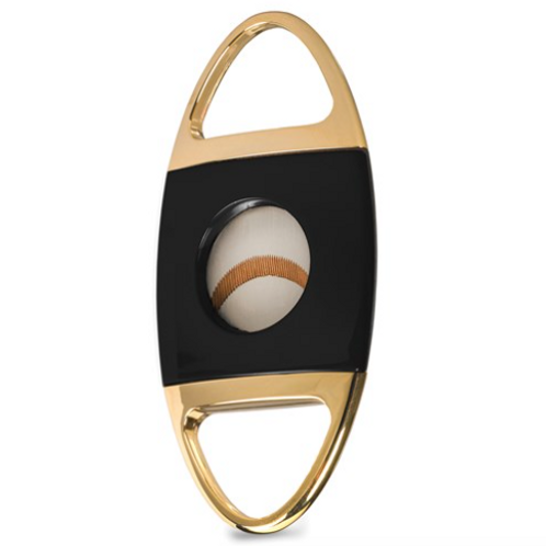 Jaws Serrated Cigar Cutter - Black And Gold-NEW