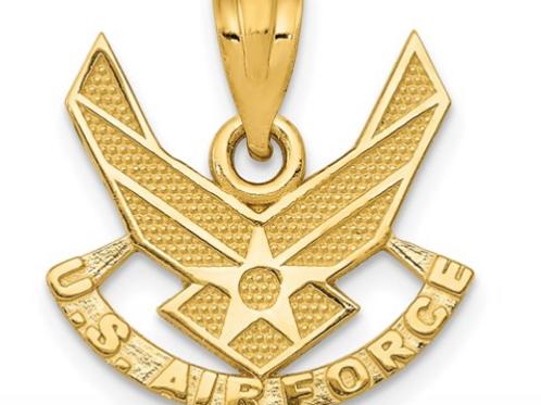 14k U. S. AIR FORCE Pendant