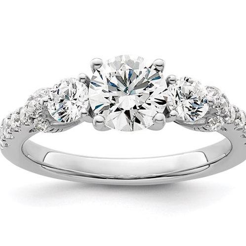 14kw Lab Grown Diamond SI1/SI2, G H I, Semi-mount Engagement Ring