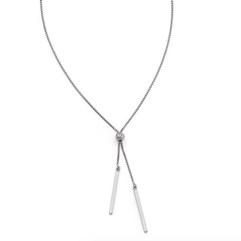 Leslie's Sterling Silver Polished Adjustable Necklace