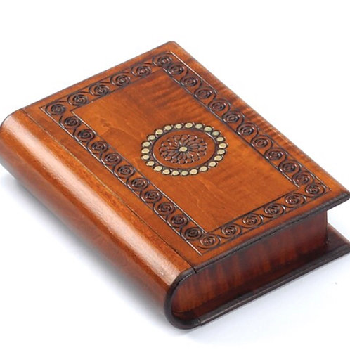 Book-shaped Wooden Puzzle Box