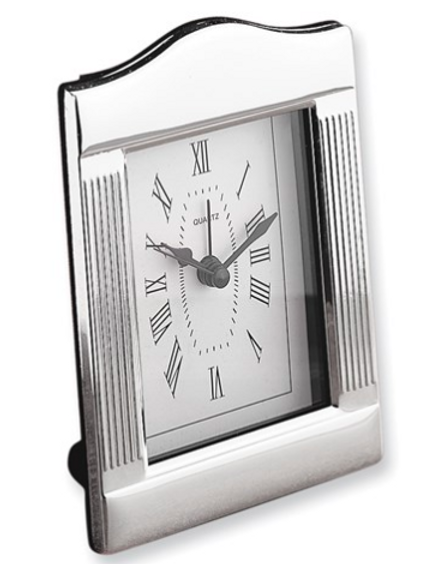 Silver-Plated Alarm Clock