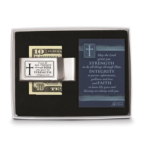 I Can Do All Things Dble Money Clip Gift Boxed with Card