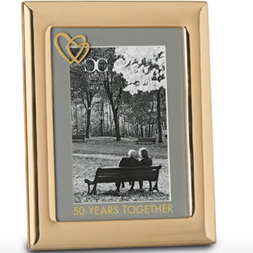 Gold-Tone Zinc Alloy 50 Years Together 4x6 Frame