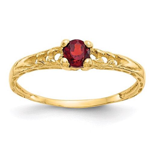 14k Madi K Gemstone Birthstone Baby Ring