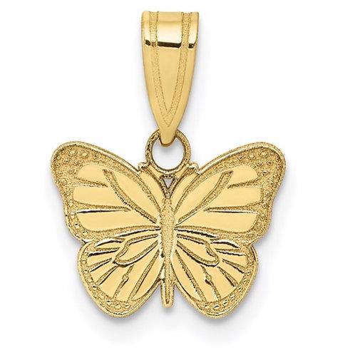 10k Laser Cut Butterfly Charm