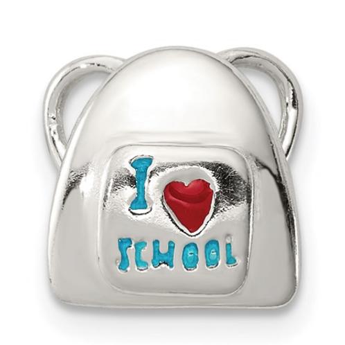 "Sterling Silver ""I Love School"" Charm"