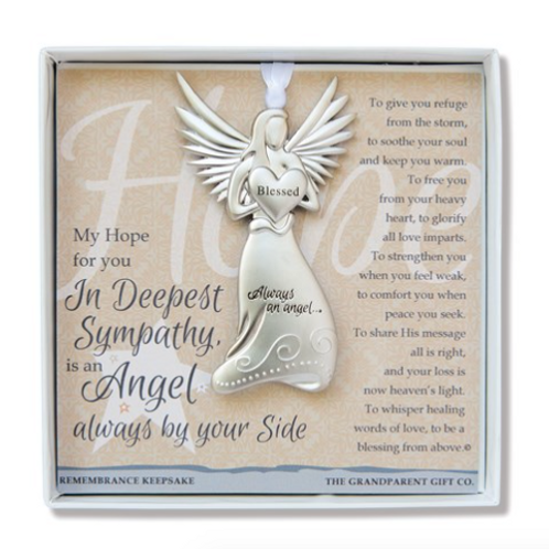Deepest Sympathy Angel Boxed With Sentiment