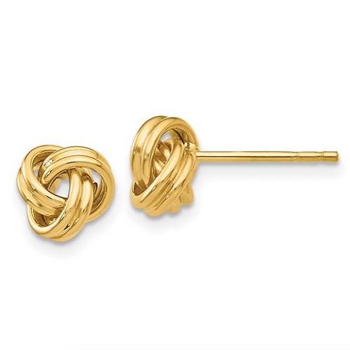 14K Love Knot Post Earrings