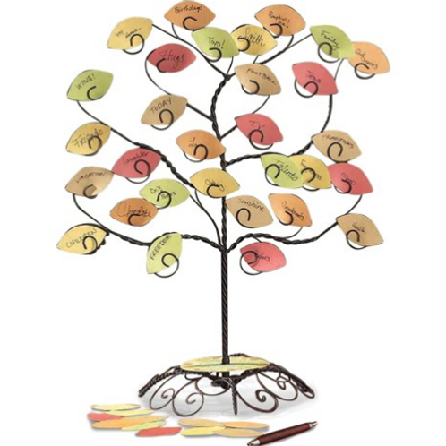 My Thankful Tree With Blank Leaves Tabletop Decor