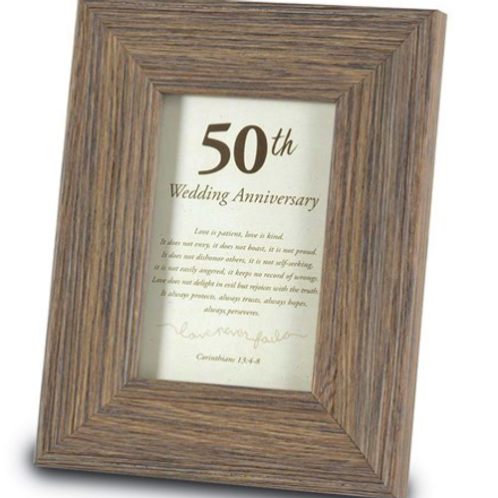 50th Anniversary 4x6 Sentiment Frame