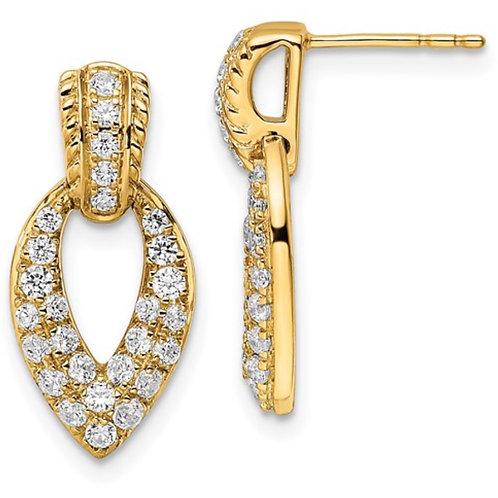 14K TRUE ORIGIN LAB GROWN DIAMOND VS/SI, D E F, Fancy Earrings
