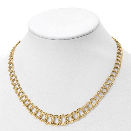 Leslie's 14K Polished Graduated Double Link Necklace