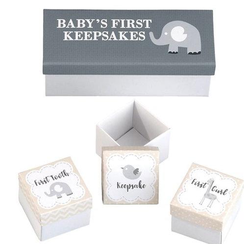 Lillian Rose Set of 3 Babys First Keepsakes Boxes