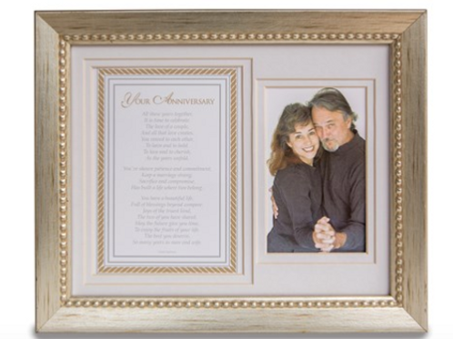 Silver Anniversary Poem And Double 8x10 Photo Frame
