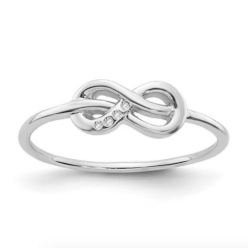 SS White Ice Infinity Diamond Ring