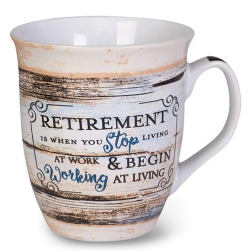 Ceramic Stone Retirement Mug