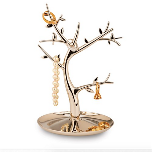 Nickel-Plated Jewelry Tree With Multi Branches