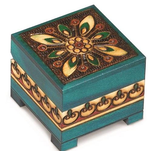 Wooden Blue Chest Box