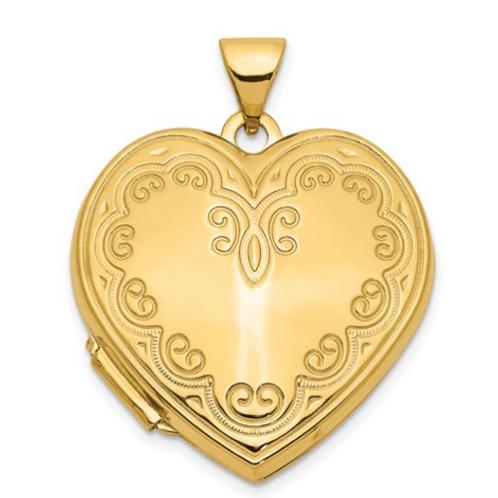 14k Heart Locket